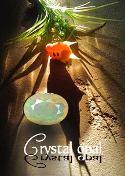 Crystal opal in store